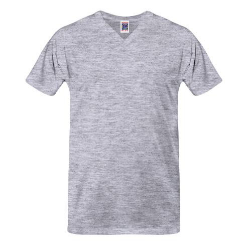 Camisetas Promocionais Atacado | Gola V Cinza