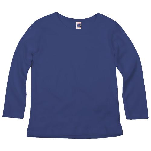 Camisa Infantil Promocional | Manga Longa Azul Royal