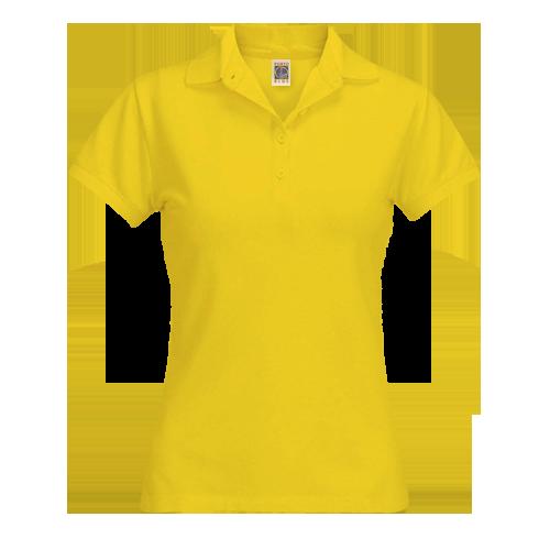 Camisa Polo Feminina Atacado | Amarela