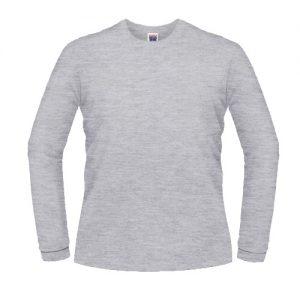Camisas Promocionais Atacado | Manga Longa Cinza Mescla